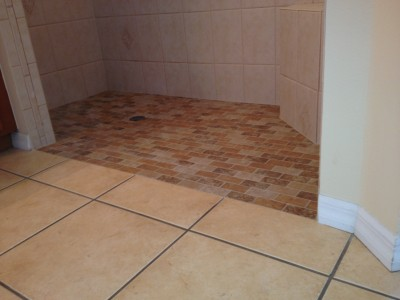 AFTER curb is removed - Accessable Shower-Joe Angeleri