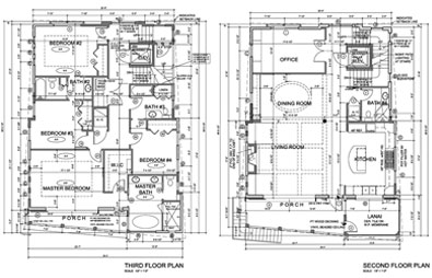 Joe Angeleri - Architectural Design showing living space floor plans