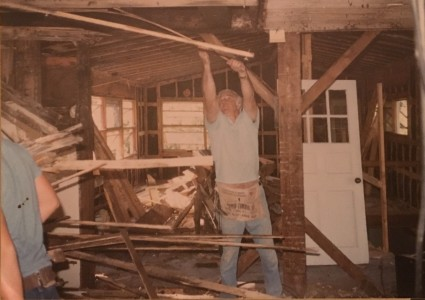 Beginning of interior demo -Historic Restoration - Joe Angeleri