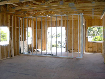 Joe Angeleri - New Home interior framing is metal.