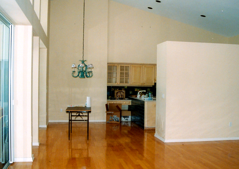 BEFORE - Kitchen/Great room - Joseph Angeleri Harbor Acres remodeling project