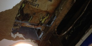 Joe angeleri - water damaged ceiling