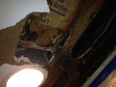 Joe angeleri - water damaged ceiling