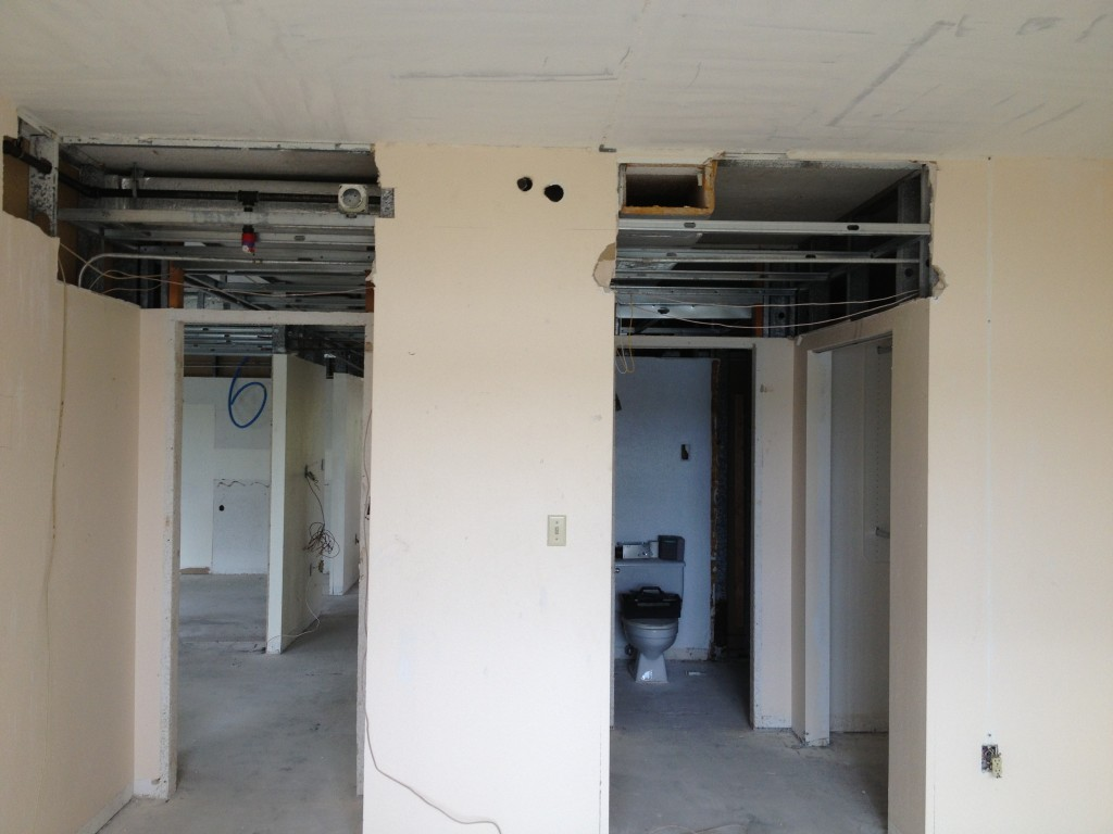 DURING construction - Longboat Key - Condo Remodeling Joe Angeleri
