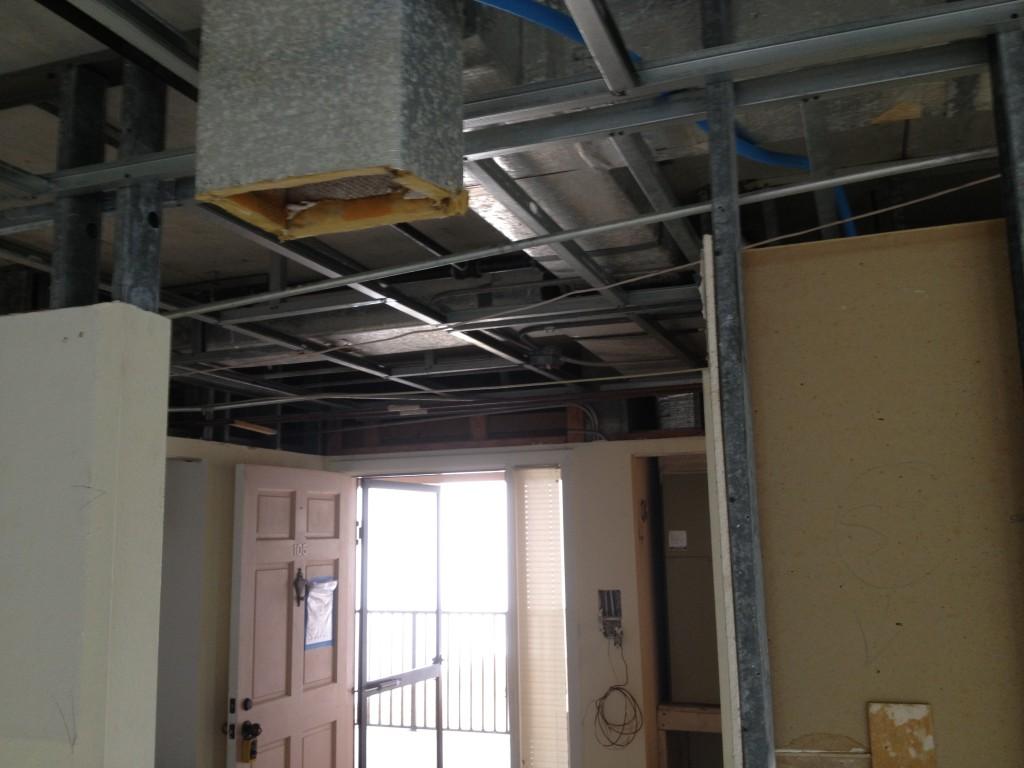 DURING construction - Longboat Key - Condo Remodeling Joe Angeleri